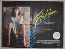 Flashdance, Original British Quad Poster, Jennifer Beals,VG-F 83